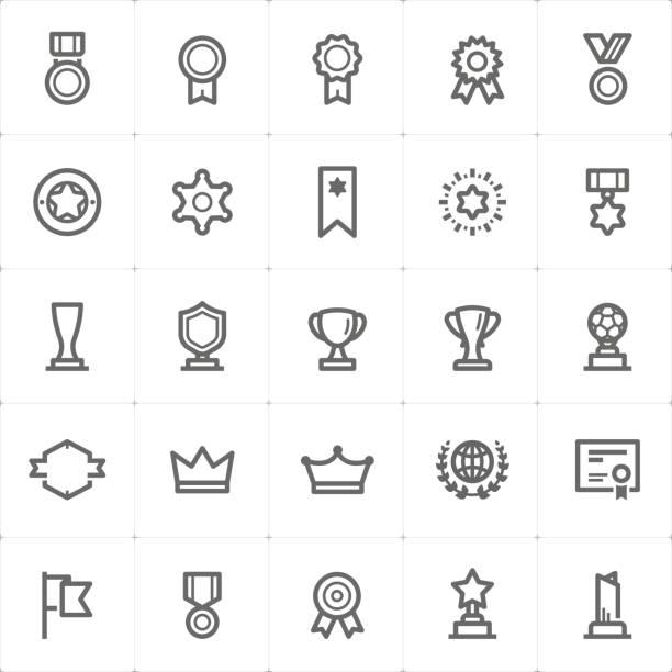 Mini Icon set – award icon vector illustration vector art illustration