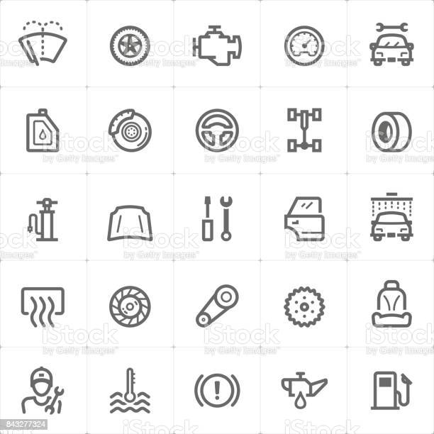 Mini icon set garage and auto part icon vector illustration vector id843277324?b=1&k=6&m=843277324&s=612x612&h=iymjbwueamfmsdizbfl4ud1s8tkt7jujv2w xbohhdc=