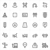 Mini Icon set - traffic icon vector illustration