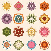 A collection of colourful mandala designs. (Includes .jpg)