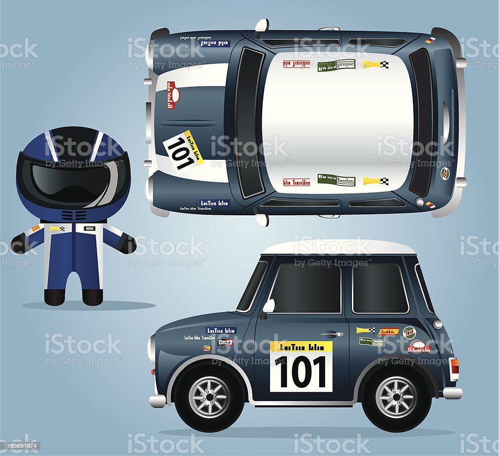 Mini Race Car And Driver Stock Vector Art & More Images Of