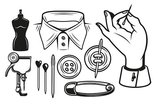 A mini set of tailor tools