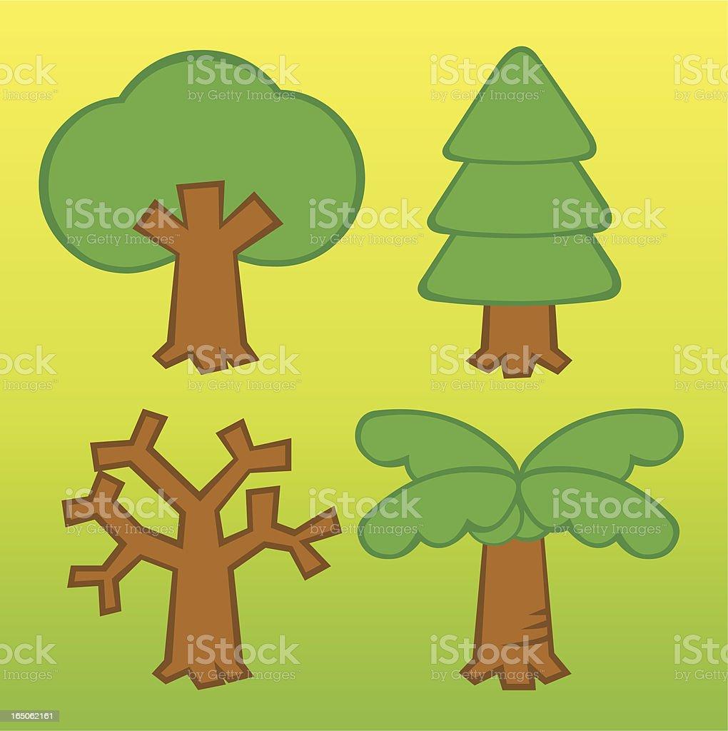 Mini tree royalty-free stock vector art