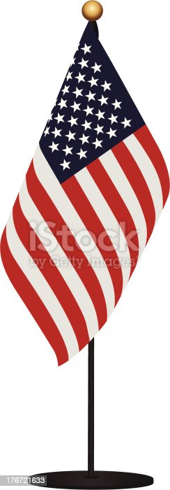 Miniature Flag of United States of America. It is easy to remove a stand.