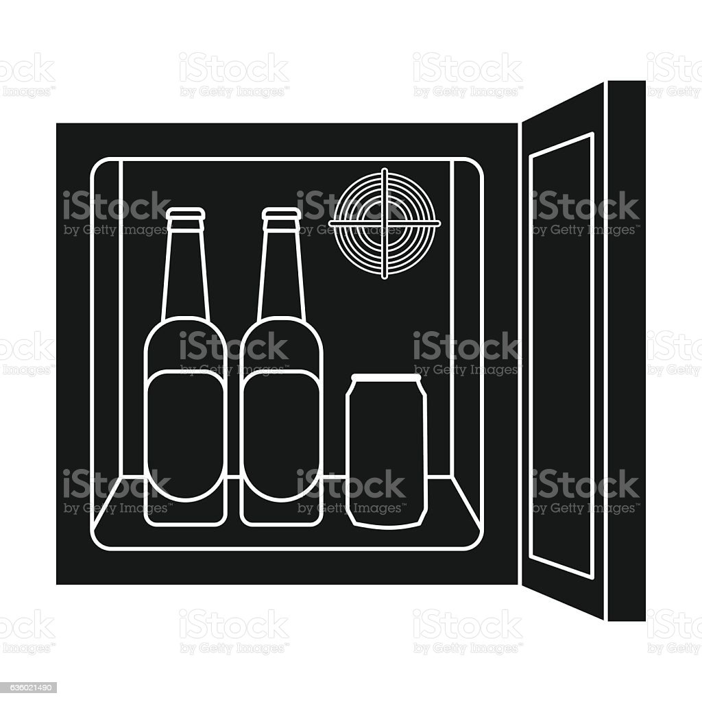 Minibar Icon In Black Style Isolated On White Background Kitchen ...