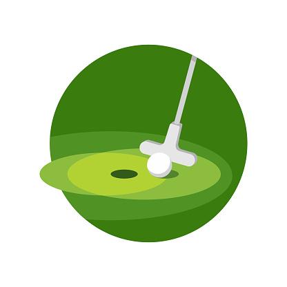 Minigolf icon - putt-putt crazy golf