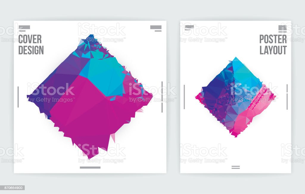 Minimal Abstract Graphic Design Poster Layout Template vector art illustration