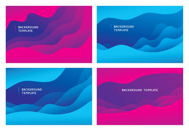 Minimal abstract wave background templates Editable set of vector illustrations on layers.  This is an AI EPS 10 file format, with transparency effects. wave pattern stock illustrations