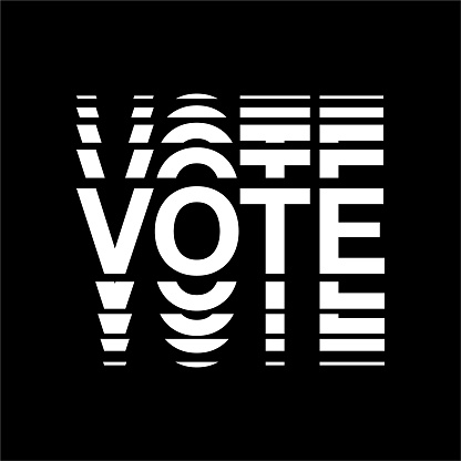 Minimal Black And White Vote Text Election Day Usa Debate Of President Voting 2020 Election Banner Design Political Flyer Vector Tshirt Typo Election Day Symbolic Elements Stock Illustration Download Image Now Istock
