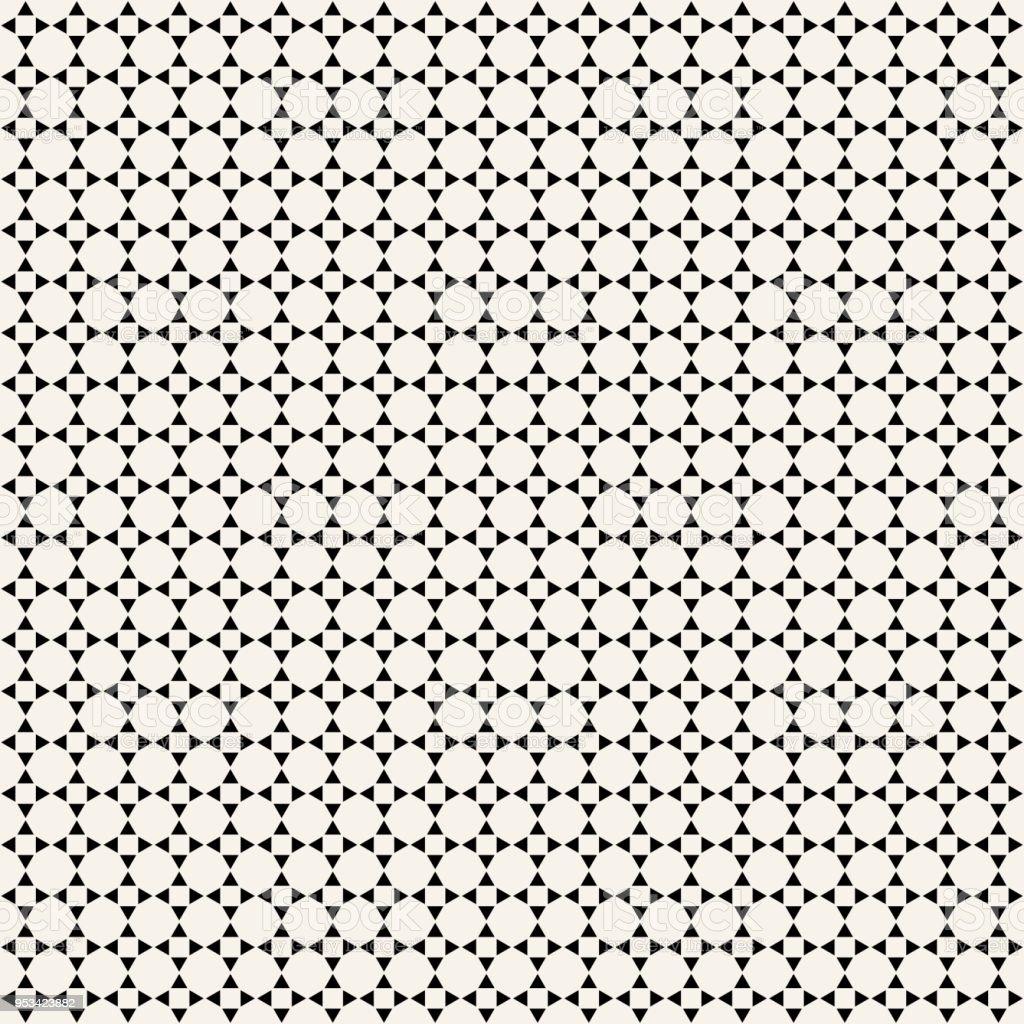 Minimal Black Monochrome Simple Geometric Triangle Seamless Pattern