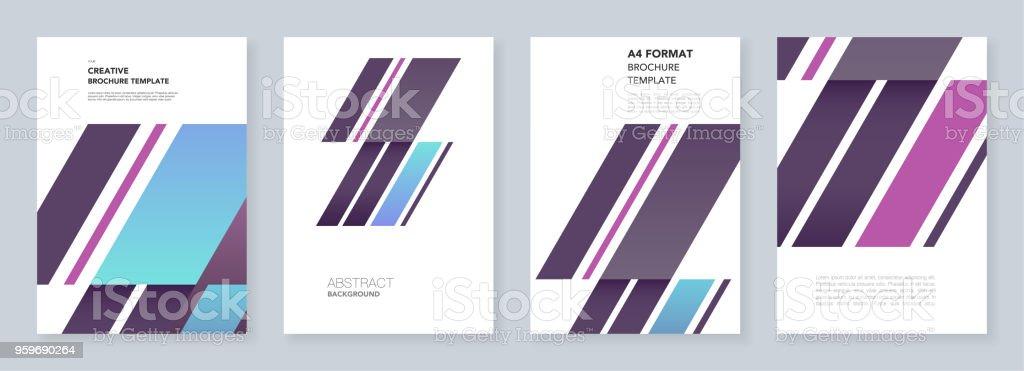 Minimale Broschüre Vorlagen Zusammenfassung Hintergrund Mit ...