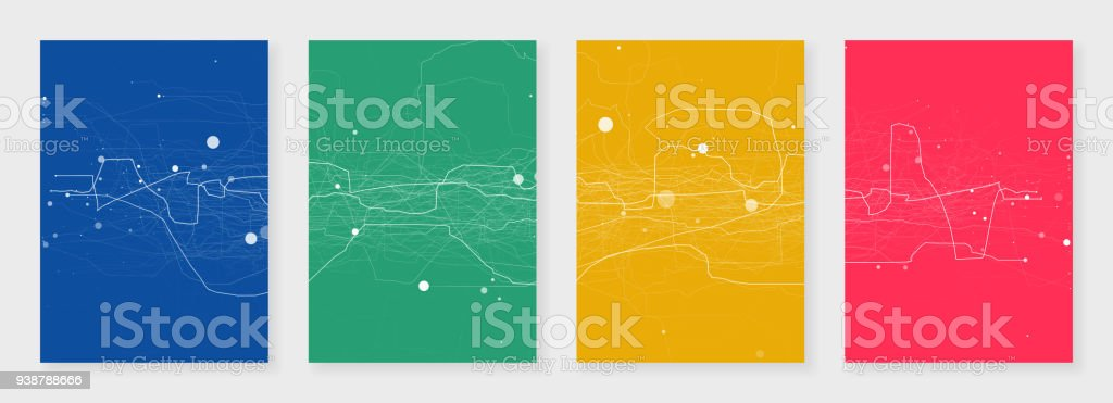 Minimal Brochure Templates Abstract Digital Colored Texture