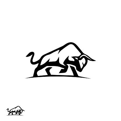 Minimal Bull design in vector format illustration