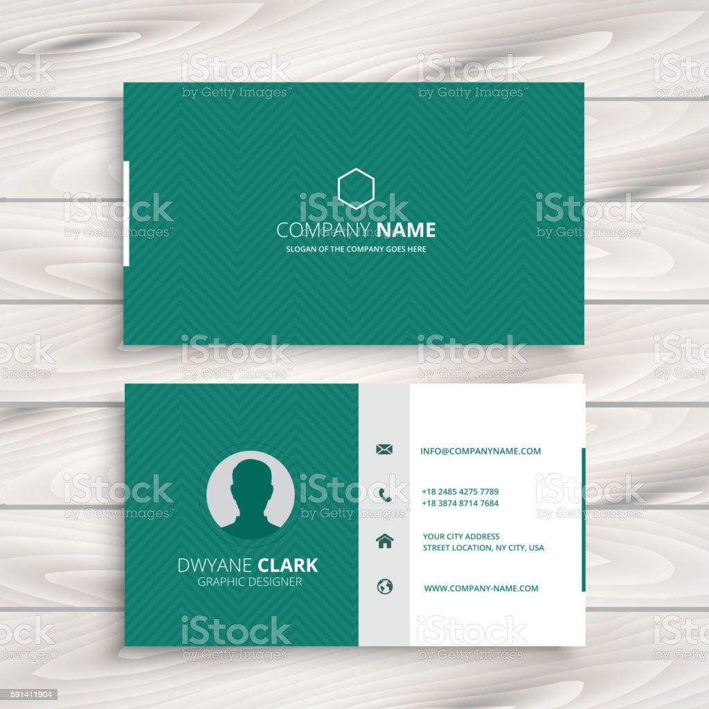 minimal business card template vector art illustration