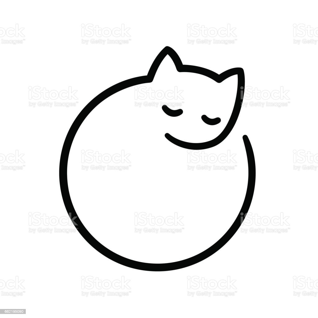 Logo cat minimes - Illustration vectorielle