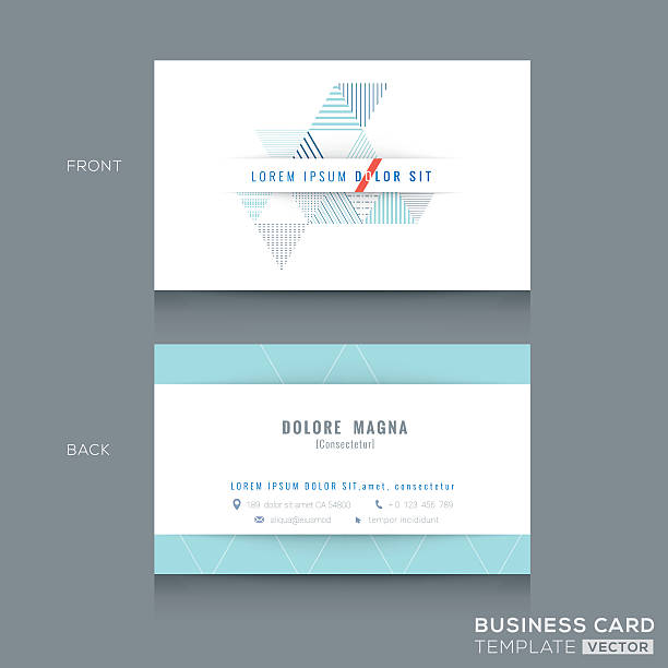 Royalty free business card clip art vector images illustrations minimal clean triangle design business card template vector art illustration fbccfo Gallery
