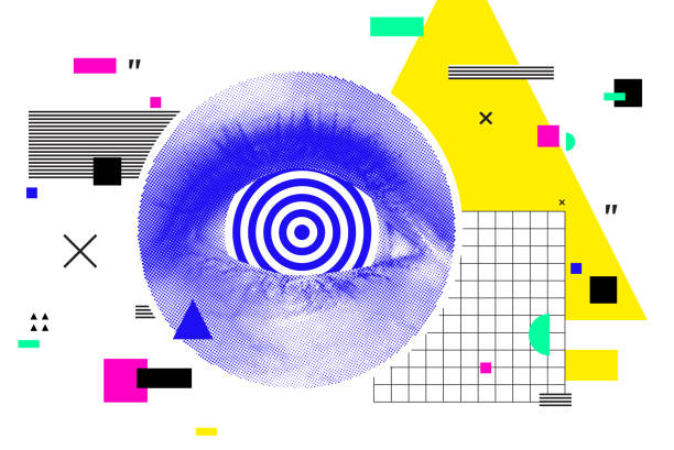 Minimale ClipArt Collage. Pop-Vektor-Komposition – Vektorgrafik