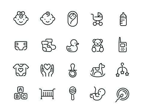 baby icons stock illustrations