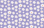 istock Minimal cute hand-painted daisies background vector seamless patters. Spring summer floral print 1184603575