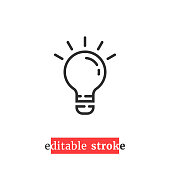 istock minimal editable stroke bulb icon 1265545505
