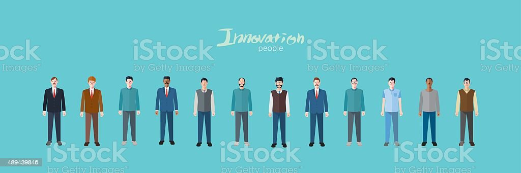 Minimal flat character of business innovation concept illustrations vector art illustration
