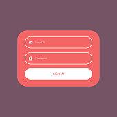 minimal flat color login form ui template design