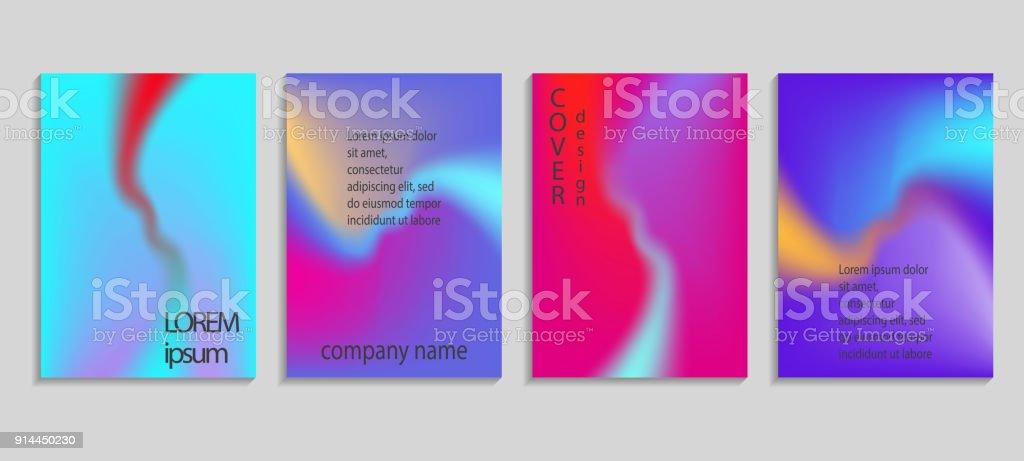 minimal fluid colors covers set future geometric gradient background