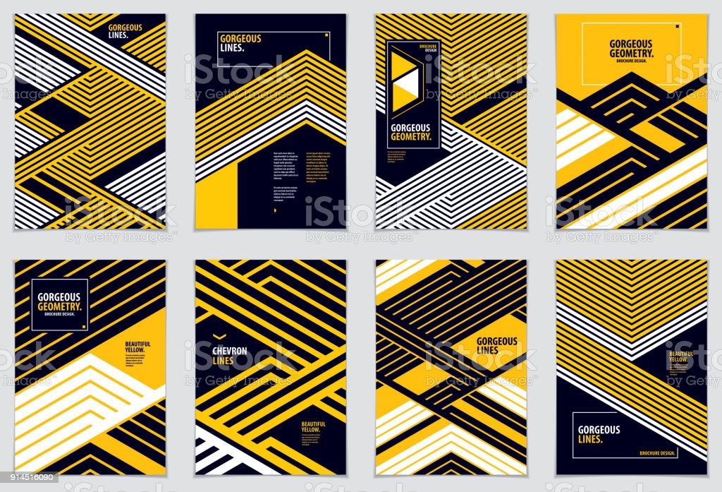 Minimal flyers, booklets, annual reports cover templates. Web, commerce or events vector graphic design templates set. Covers with minimal design. A4 print format. vector art illustration