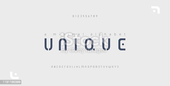 Minimal font creative modern alphabet. Typography with dot regular and number. minimalist style fonts set. vector illustration