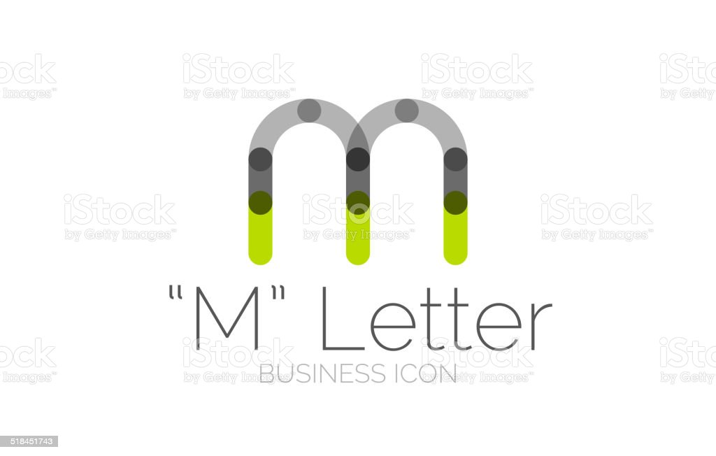 Minimal font or letter icon design vector art illustration