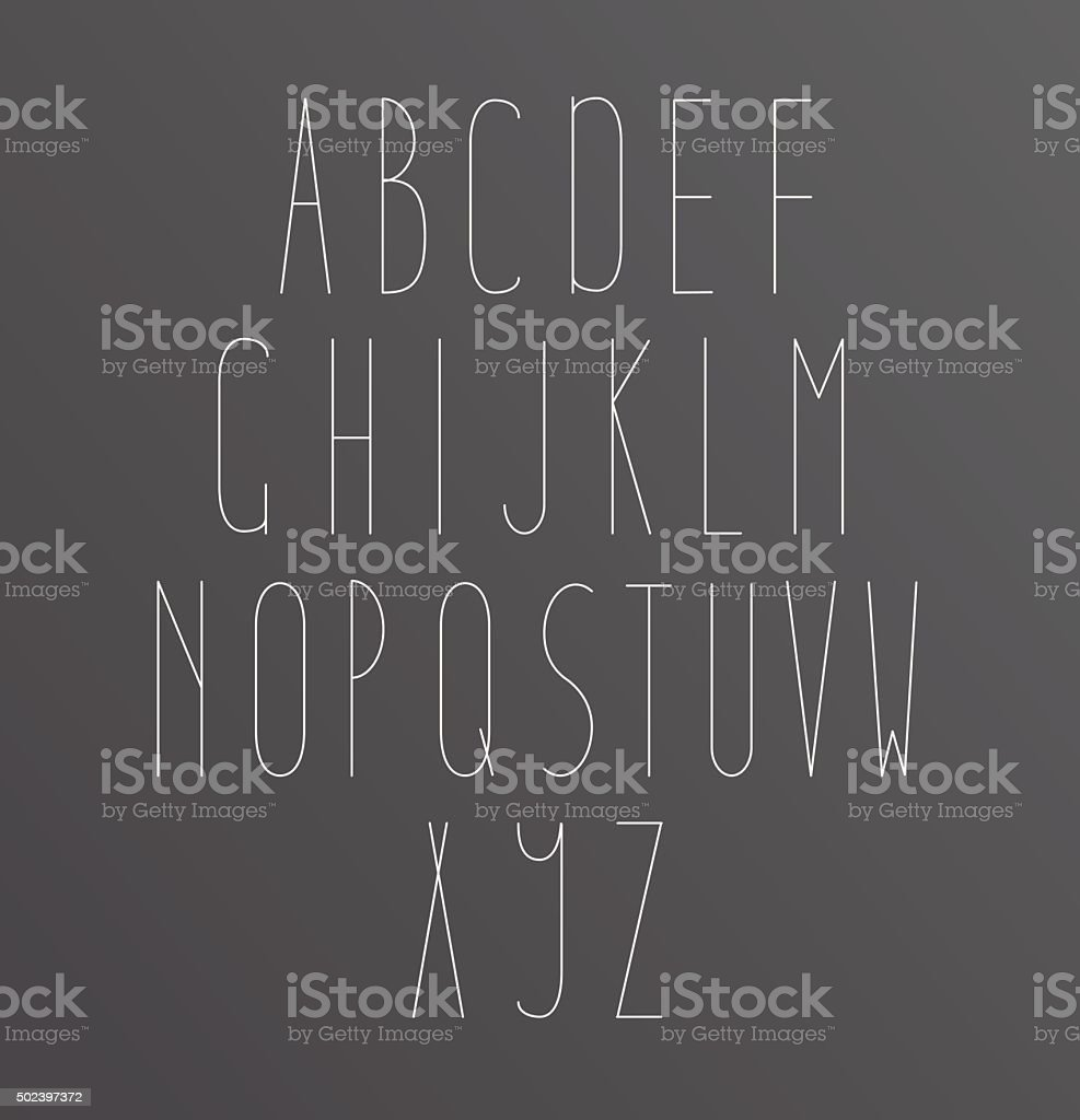 Minimal font symbol icon alphabet a through z stock vector art minimal font symbol icon alphabet a through z royalty free stock vector art biocorpaavc Image collections