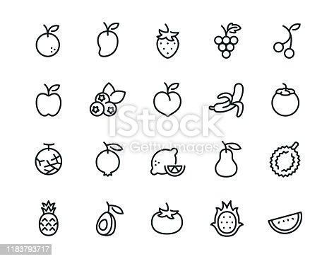 20 minimal fruit icons