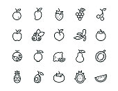 20 minimal fruit icons