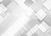Minimal futuristic corporate tech grey and white vector background