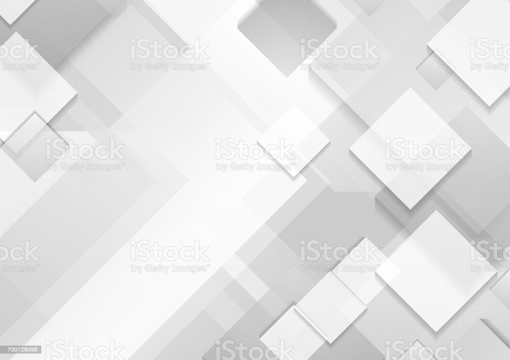 En az fütüristik kurumsal teknik gri beyaz arka plan vektör sanat illüstrasyonu