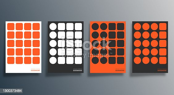istock Minimal geometric design for flyer, poster, brochure cover, background, wallpaper, typography, or other printing products. Vector illustration 1300373484