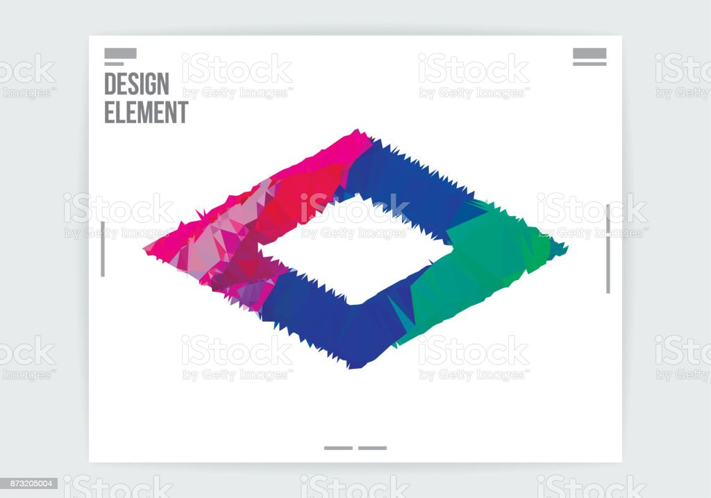 minimal geometric graphic design poster template abstract background
