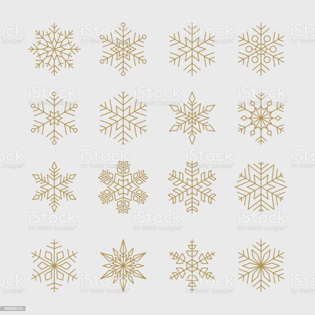 Minimal golden snowflakes set