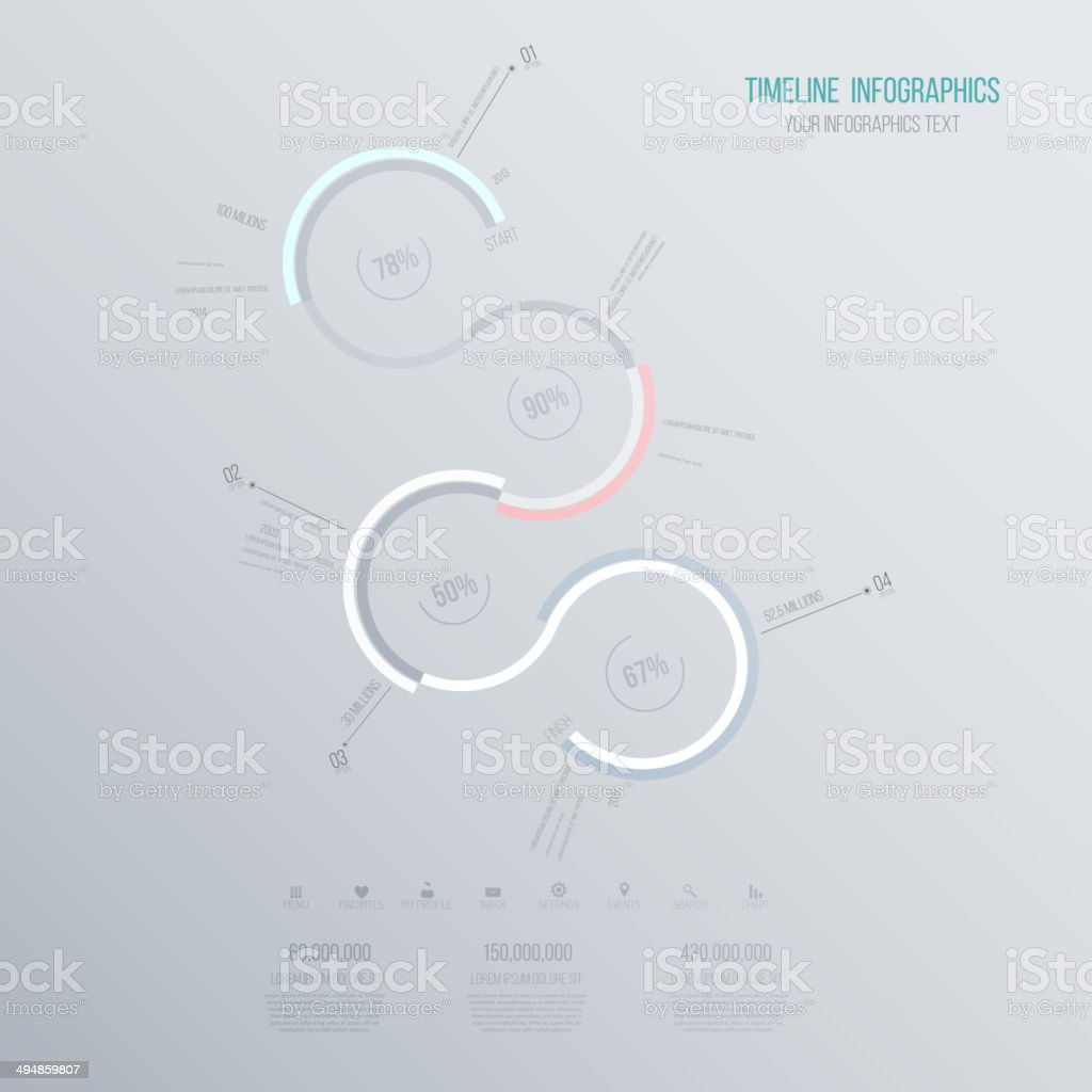 Minimal infographics design.Timeline. Vector royalty-free stock vector art