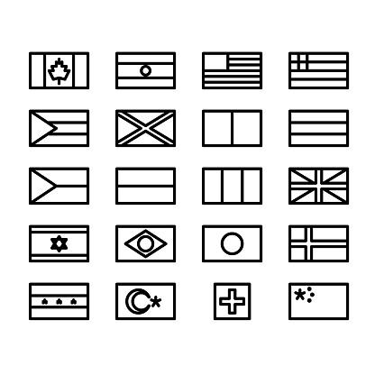 minimal line flags