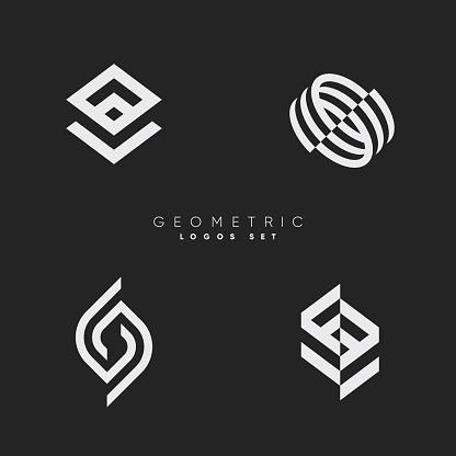 Minimal line logos.