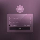 minimal login form template design vector