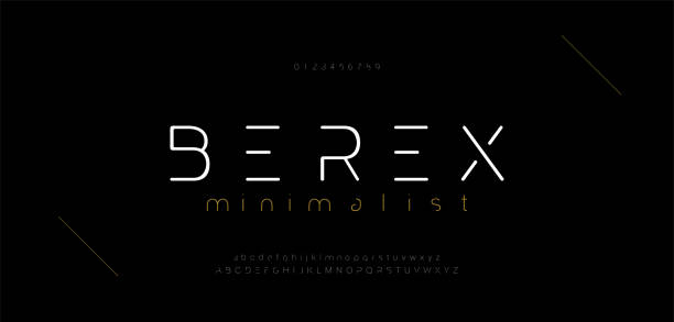 Minimal modern alphabet fonts and numbers. Abstract urban thin line font typography typeface uppercase lowercase. vector illustration Minimal modern alphabet fonts and numbers. Abstract urban thin line font typography typeface uppercase lowercase. vector illustration alphabet symbols stock illustrations