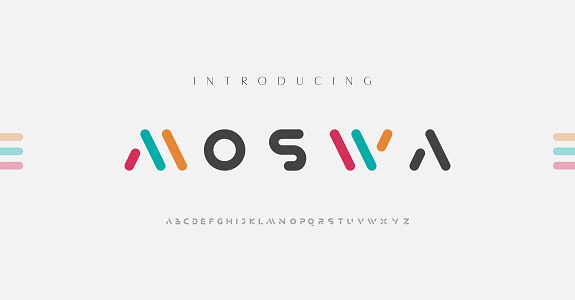 Minimal modern alphabet fonts. Typography minimalist urban digital fashion future creative logo font. vector illustration