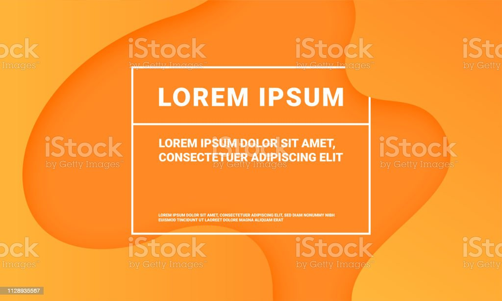 Minimal Orange Background Vector Abstract Color Fluid