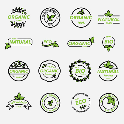 Minimal organic product labels