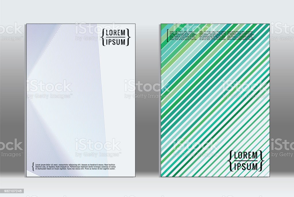 Minimal placard. Vector geometric cover. vector art illustration