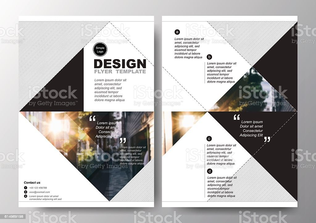 minimal poster brochure flyer design layout background vector template a4 stock vector art. Black Bedroom Furniture Sets. Home Design Ideas