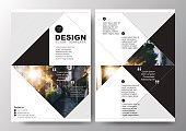 Abstract triangle background for minimal Poster Brochure Flyer design Layout vector template in A4 size
