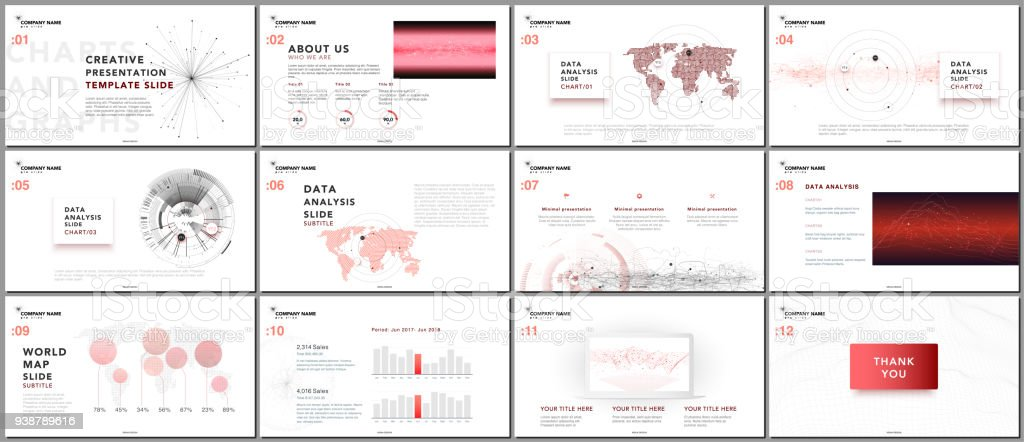 Minimal Presentation Templates Tech Elements On White Background ...